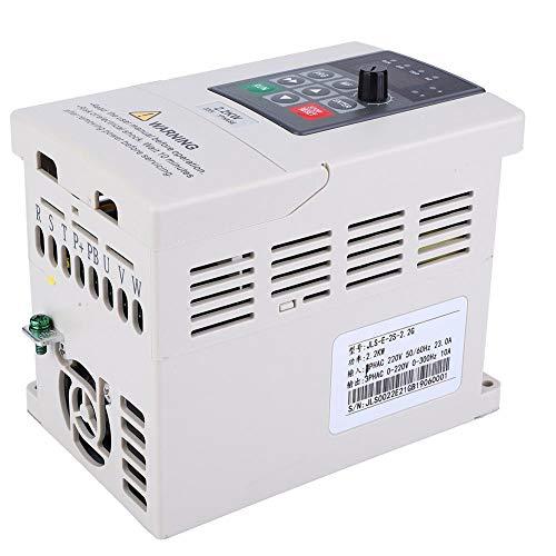 Variador De Frecuencia 220V monofásico a trifásico, 2.2Kw Inversor VFD,Convertidor De Frecuencia Variable,Control Pwm,Para Flujo De Control De Bomba, Suministro De Agua a Presión Constante