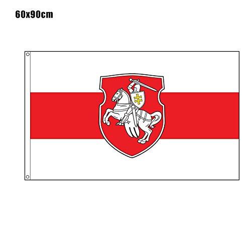 Hollewe Belarus White Knight Pagonya Flagge 150x90cm / 60x90cm Original/Retro-Stil Banner Fahnen & Banner