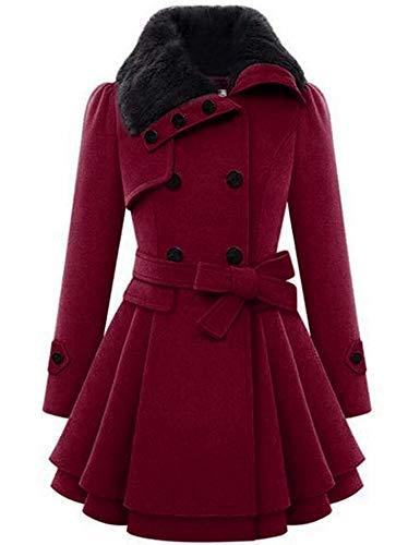 Zeagoo Womens Military Hooded Warm Winter Faux Fur Lined Parkas Anroaks Long Coats