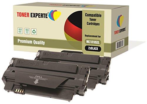 Pack de 2 TONER EXPERTE® Compatibles MLT-D1052L Cartuchos de Tóner Láser para Samsung ML-1910, ML-1911, ML-1915, ML-2525, ML-2525W, ML-2580N, SCX-4600, SCX-4623F, SCX-4623FN, SCX-4623FW, SF-650