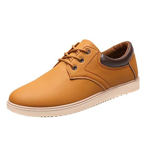 TWISFER Rutschfeste Business Lederstiefel Herren Sneaker Atmungsaktive Schnürstiefel Schuhe Turnschuhe Freizeitschuhe Wasserdicht Wanderschuhe Arbeits Laufschuhe Trekkingschuhe