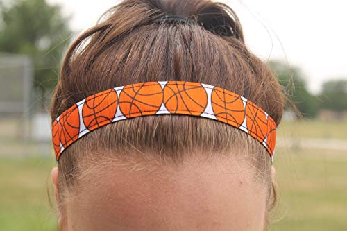 Basketball Headband for Girls Sports, Choice of Size, Non Slip Headbands for Women Basketball Gifts