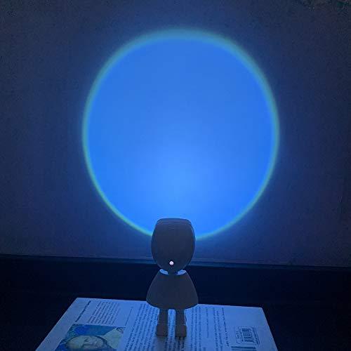 JAWSEU 360 grados de rotación LED romántica puesta de sol luz nocturna para fiesta para teléfono cámara video TikTok autorretrato Youtube y maquillaje luz de luna para niños regalo para mujeres regalo