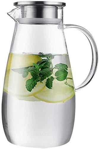 Tetera Tetera Taza tetera Taza de cristal de la tapa de la jarra de hielo vaso de agua de gran capacidad multifuncional y durable muy adecuado for el calor de agua fría Leche Jugo vino fácil de limpia