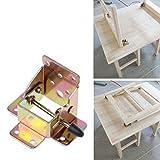 BIlinl 4X Cerniere Pieghevoli per sedie Pieghevoli in Ferro con Cerniere. Cerniere Pieghevoli autobloccanti