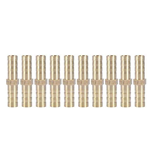 Conexión de manguera de latón Conexión de tubo de 2 vías de púas de latón Conector de unión de tubo 6/8/10/12/14/16/20 mm(6mm)