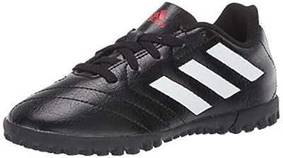 adidas Boy's Goletto VII Turf Soccer Shoe, Black/White/Red, 10.5 Little Kid