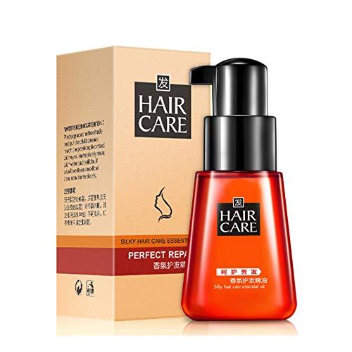 Huoju Silky Hair Care Huile Essentielle Réparatrice De Cheveux Huile Essentielle Hydratante Nourrissant Le Cuir Chevelu Améliorant La Sécheresse Soin Des Cheveux Essence-70ml (Rouge)