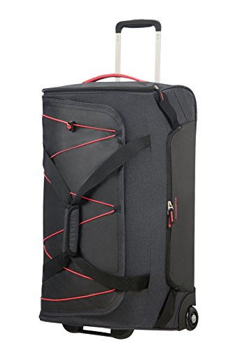 American Tourister Road Quest Wheeled Duffle Medium Bolsa de Viaje, 67 cm, 75 Liters, Gris (Graphite/Pink)