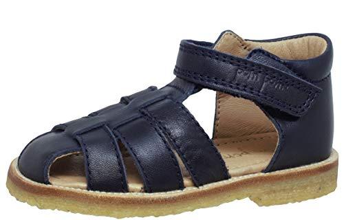 pom pom geschlossene Sandalen 6422 Klett Krepp Blau Navy, Schuhgröße:EUR 26