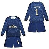 ANHPI Uniformes de fútbol Infantil Iker Casillas Fernández # 1, Traje de Entrenamiento de Camiseta de fútbol, Camiseta Transpirable y de Secado rápido (Color : A-#1, Size : Child-16)