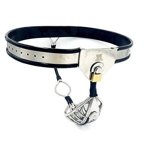 Men's Invisible Chastìty Belt Câge T-Type Pants Steel Defecâtïon Rïng Pants Lo?k Stainless Steel