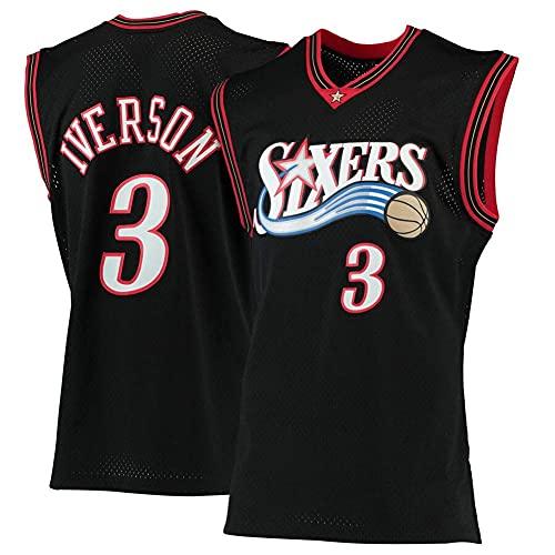 WEIZI Basketball Jersey #3 Allen Iverson Camiseta de Jugador de Baloncesto para Hombres, Camiseta fanáticos, Chaleco Transpirable Deportivas de Jersey Swingman