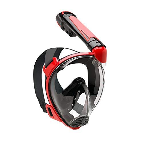 JS Taucherbrille, Vollständig Trockenes Tauchset Mit Schnorchel, 180 ° Sichtfeld Anti-Wassereintritt Unisex-Taucherbrille Für Erwachsene
