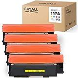 (Con Chip) PINALL 4 cartuchos de tóner compatibles HP W2070A W2071A W2072A W2073A para HP Color Laser 150a 150nw 178nw 179fnw