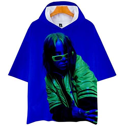 DJ002 Sport-Sweatshirt Billie Eilish Hoodie,Mädchen T-shirtLoose Plus Size Hoodie, 3D-bedruckter Hoodie Unisex (Color : #12, Size : XXS)