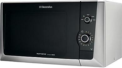 Electrolux EMM21000S Encimera 18.5L 800W Negro, Gris - Microondas (Encimera, 18,5 L, 800 W, Giratorio, Negro, Gris, 27 cm)