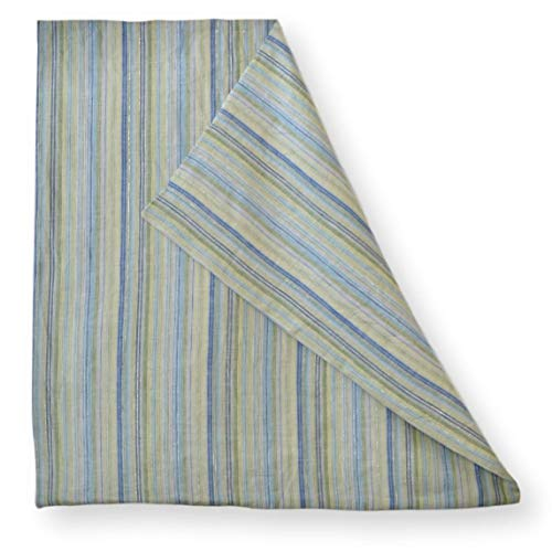 Linen Damask Striped Euro Sham 26x26 Large Square Pillow Cover Multicolor Ticking Blue Navy Mint Light Sage Green Yellow Thin Vertical Small Stripe Throw Accent Decorative Couch Reversible Covers Case