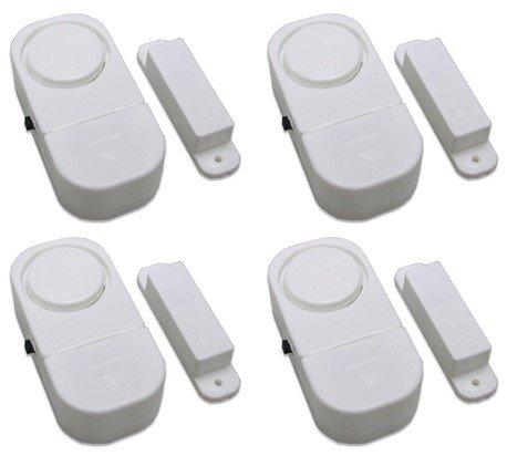 Precision pro Alarmanlage für Fenster/Tür, zum Schutz vor Einbrechern, kabellos, mit Sensor, 4Stück