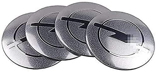 4 Piezas de Cubierta Central de Rueda de Coche, Adecuada para Opel Astra H G J Insignia Mokka Zafira Corsa 56mm llanta de aleación Cubierta de Cubo Central Forma de Insignia Accesorios de decoración