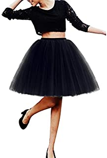 iMixCity Donna Balletti Danza Tutu Gonna dell'Annata Cocktail Swing Principessa Crinolina Sottogonna in 5 Strati Organza T...