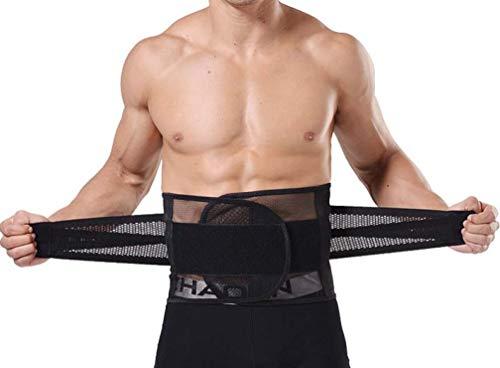 FENTINAYA Mens Waist Trainer Korsett Lower Back Support Brace Bauch Control Slimmerbelt Atmungsaktive Gürtel