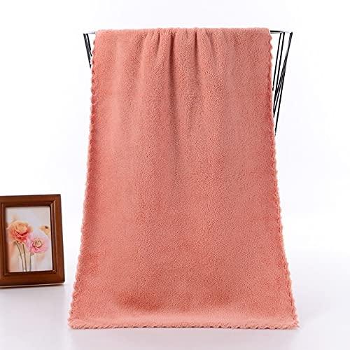 IAMZHL Toalla de Cara Coraline Microfibra Absorbente de baño Toallas de casa para la Cocina paño de Secado rápido más Grueso para Limpiar Toalla de Cocina 2 pc-Orange-35x75cm
