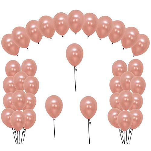Formemory 36Pcs 12 Zoll Rosegold Latex Luftballon,Helium Ballon für Hochzeit Geburtstag Party Deko Ballons (Rosegold)
