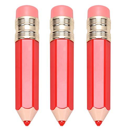 Minkissy 3Pcs Tubes de Brillant à Lèvres Tubes de Brillant en Forme de Crayon Conteneurs Tube de Rouge à Lèvres Tube de Vernis à Lèvres pour Femmes (Rouge)
