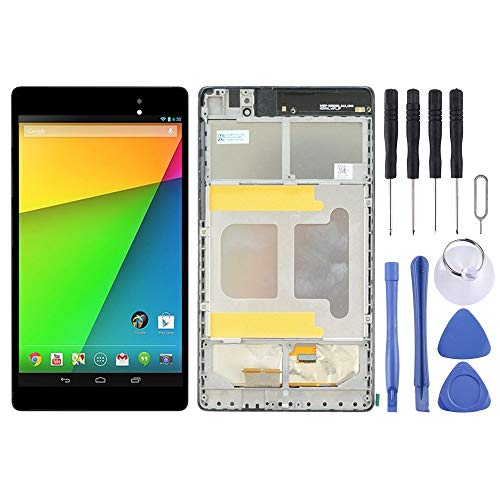 Dmtrab for LCD Screen and Digitizer Full Assembly with Frame for Asus Google Nexus 7 2nd 2013 ME571KL (WIFI Version) (Black) Lcd Screen Replacement Lcd Screen Replacement (Color : Black)