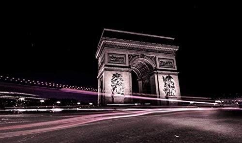 puzzle 1000 piezas 75 * 50 CM Vista nocturna del Arco del Triunfo en Francia 3D Clásico romántico abstracto de decoración del hogar de juguete colectivable de montaje