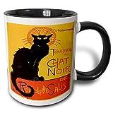 Tazza Le Chat Noir - pubblicità, art nouveau, gatto nero, gatto, gatti, chat noir, le chat 'Tazza nera a due toni, 11 oz, multicolore