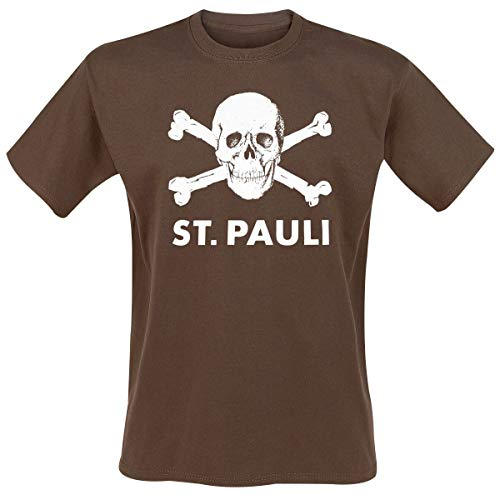 FC St. Pauli T-shirt Marron/motif tête de mort Aqua s