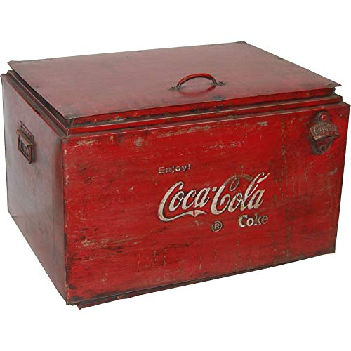 Kühlbox Vintage Cola aus Metall Alt