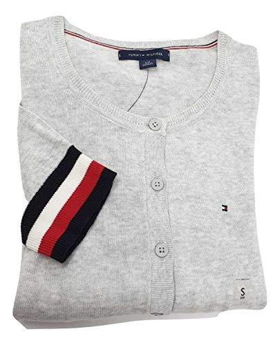 Tommy Hilfiger Damen Strickjacke Cardigan Grau Größe Medium