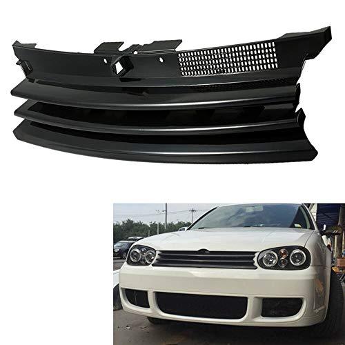 JTSGHRZ Rejilla Frontal para VW Golf 4 MK4 GTI R32 1997-2004, Parrilla de capó Delantero de Parrilla de Coche Negro 1J0853655G
