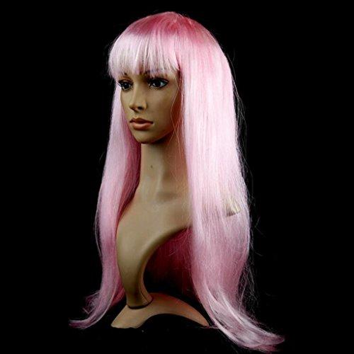 Longless Perruque longue ligne droite couleur de cheveux micro-roll Liu Haichang cheveux droits jeux d'Halloween robe année