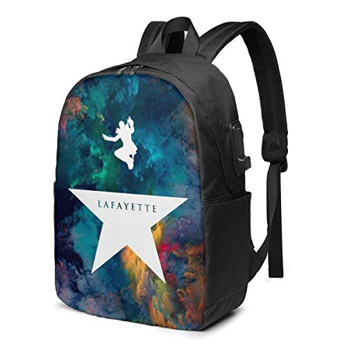 AOOEDM Hamilton Lafayette Durable Travel Backpack School Bag Laptops Backpack with USB Charging Port for Men Women