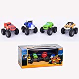OYJD Monster Machine Vehicle 4 Piezas Set Truck Vehicles Racer Cars Toy