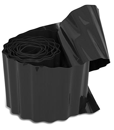 Windhager Rasenkante, Raseneinfassung, Beeteinfassung, Beetbegrenzung, Mähkante, Anthrazit, 500 g/m², 9 m x 20 cm, 06413