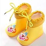 ADDYZ Zapatos clásicos de los niños de la manera botas de lluvia impermeables...