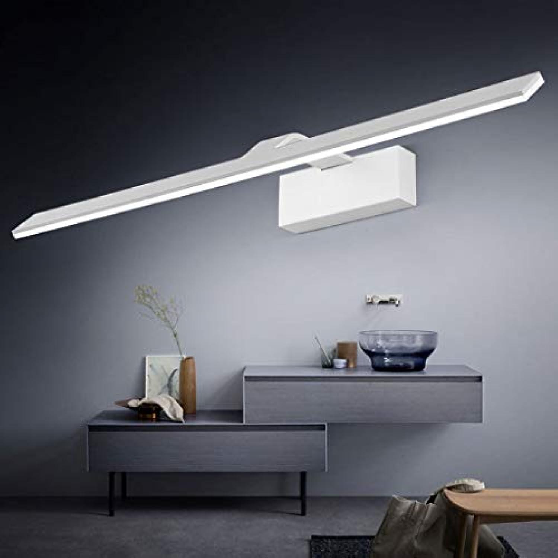 NHX LED-Spiegelfrontleuchte Badezimmerspiegelleuchte Energiesparende Make-up-Leuchte Wandleuchte Schrankleuchte Ultrahelle Wandleuchte Einfache InsGrößetion, Weiß_Weiß light-42cm