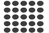 Metafranc Anti-Rutsch-Pads Ø 15 mm - selbstklebend - schwarz - 25 Stück - Stoßdämpfend - Rutschhemmend für Möbel & Gegenstände / EVA-Pads im Set / Gummi-Pads / Anti-Rutsch-Puffer / 646076