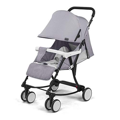 min min Las sillas 2 en 1 Cochecito de bebé Pueden Cambiar a Baby Rocking Cradle Compact PLOW BEBY Carriage Recién Nacido Bebé Comodidad Silla (Color: Gris) (Color : Gray)