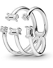 باندورا خاتم فاشن للنساء , زركونيا مكعب , 197527CZ-56