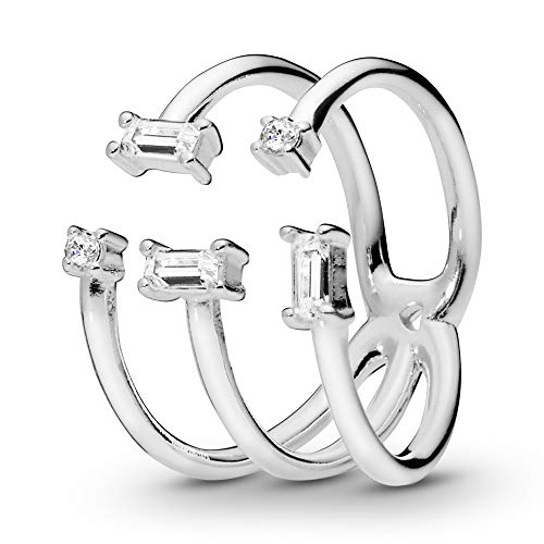 Pandora Damen-Ringe 925 Sterlingsilber mit Ringgröße 58 197527CZ-58