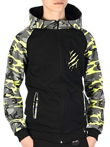 BEZLIT Jungen Kinder Hoodie Kapuzen Pullover Sweat-Shirt Sweater Sweatjacke Pulli YES 30042 Schwarz 128