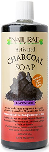 Dr.Natural Activated Charcoal Liquid Soap- 32oz. (Lavender)