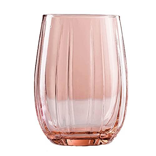 OMIDM Copa de Vidrio Cúpulas de Vidrio Transparentes coloreadas 2 Paquetes 12.8 onzas de Bebidas Whiskey Whiskey Dessert Taza Conjunto de cristalería sin Plomo (3 Colores Disponibles) Taza de Agua