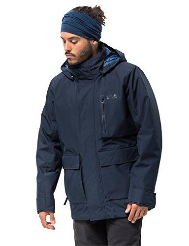 Jack Wolfskin Herren FJAERLAND Jacket 3-in-1-Jacke Wasserdicht Winddicht Atmungsaktiv 3in1-jacke, Night blau, M